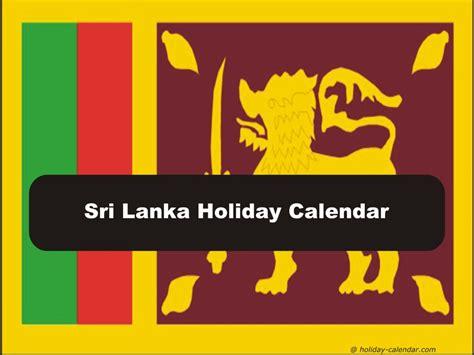 Calendar 2018 With Holidays In Sri Lanka Sri Lanka 2018 2019 Calendar