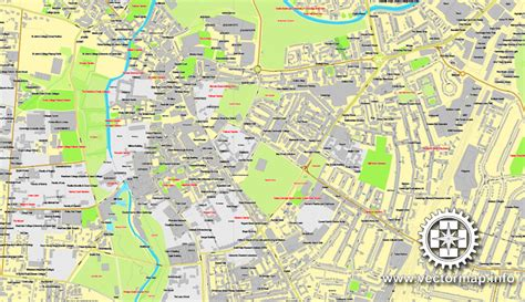 map uk cambridge cambridge uk great britain printable vector
