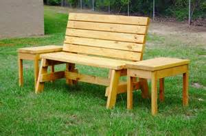 Wood Outdoor Table 17 Awesome Diy Outdoor Bench Ideas