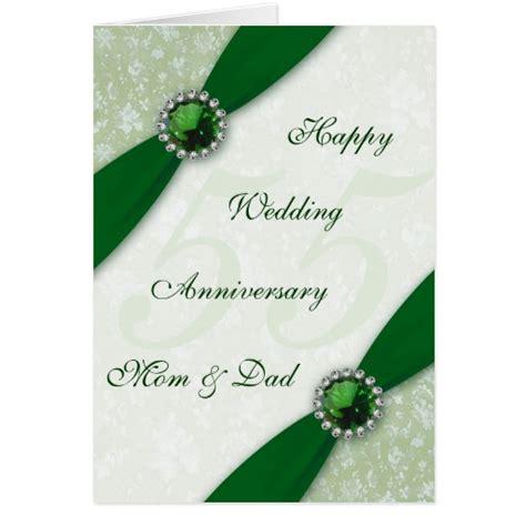 damask 55th wedding anniversary greeting card zazzle