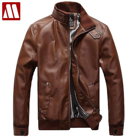 Rocella Maryam Size Xxxl Brown 2018 new fashion leather jacket plus size xxxl 4xl 5xl black brown mens mandarin collar pu