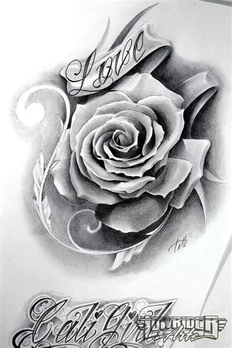 rose tat beautiful chicano tattoo art pinterest