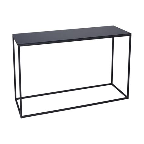 black metal console table buy black glass and black metal console table from fusion
