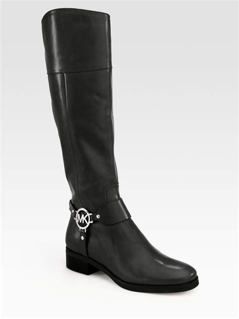 michael kors fulton harness boots michael michael kors fulton leather harness boots in black