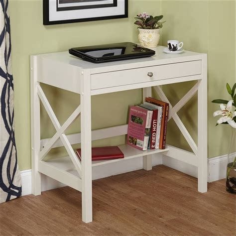 Small White Writing Desk Bedroom Computer Desks For Small Spaces Small Writing Desk With Throughout Small White Writing