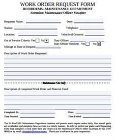 sample work order form 10 free sample example format