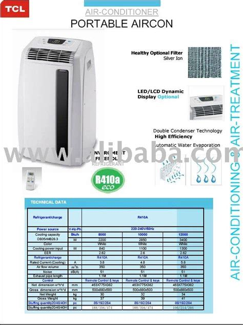 Ac Portable Tcl tcl portable aircon air conditioner buy portable air