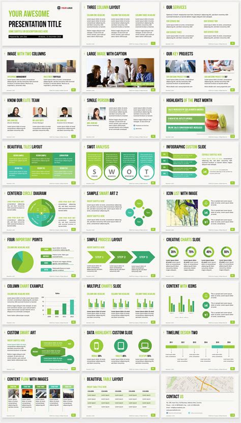Ultimate Professional Business Powerpoint Template 1200 Clean Slides How To Create A Presentation Template In Powerpoint