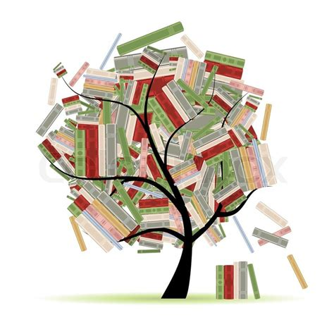 the tree limb books books library on tree branches for your design stock