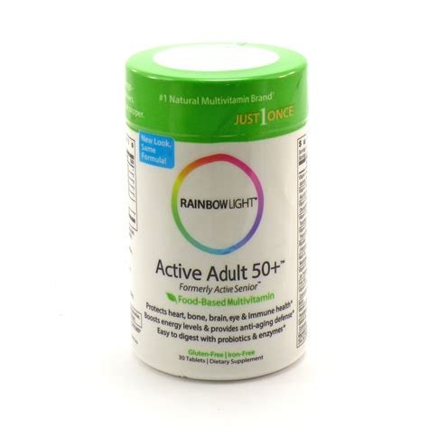 Active 50 Multivitamin By Rainbow Light 30 Tablets