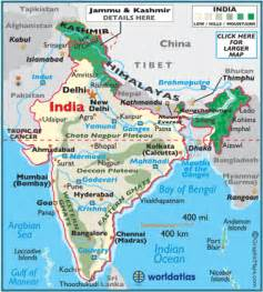India In Map Of The World by Indian Subcontinent Map World Atlas
