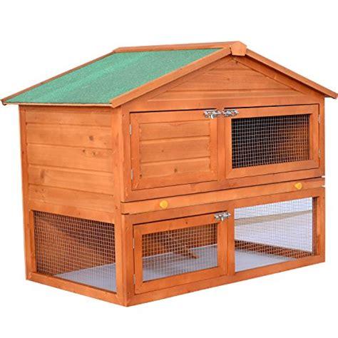 Small Wooden Hutch pawhut 48 quot backyard wooden rabbit small animal hutch the pet furniture store