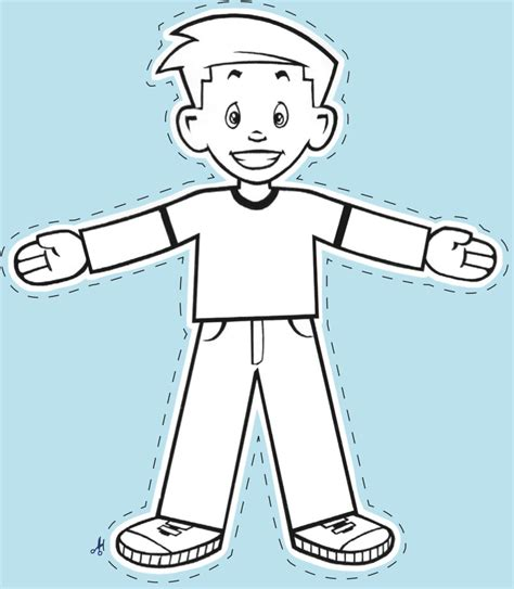 How To Draw Flat Stanley Step By Step