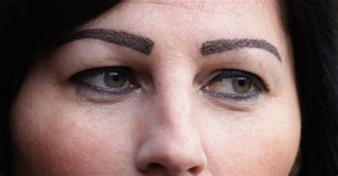 tattoo eyebrows sunderland walker mum marie johnson to get tattooed eyebrows removed