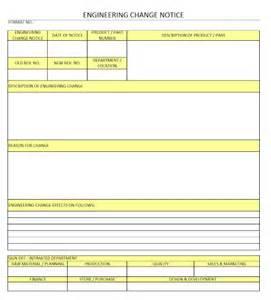 Samples Of Home Design Engineering Change Notice Engineering Design Change