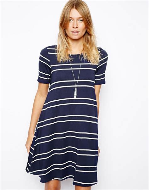 asos swing dress asos asos swing dress in stripe at asos