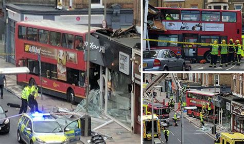 design shop lavender hill battersea bus crash several injured and trapped in