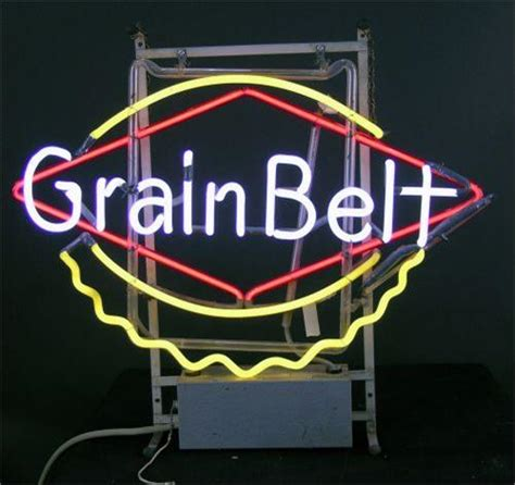 what were beer neon colors in the 50s and 60s neon sign grain belt 3 colors