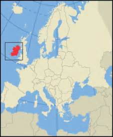 Ireland Map Europe by Location Map Of Ireland In Europe