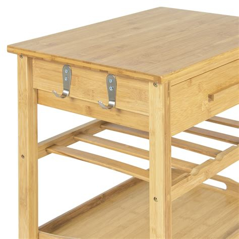Wood Storage Cart With Drawers Rolling Wood Kitchen Storage Cart Rack With Drawer