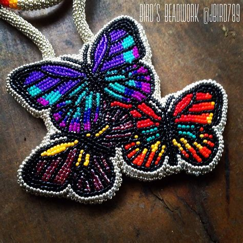 beadwork butterfly bird s beadwork beaded butterflies medallion https www