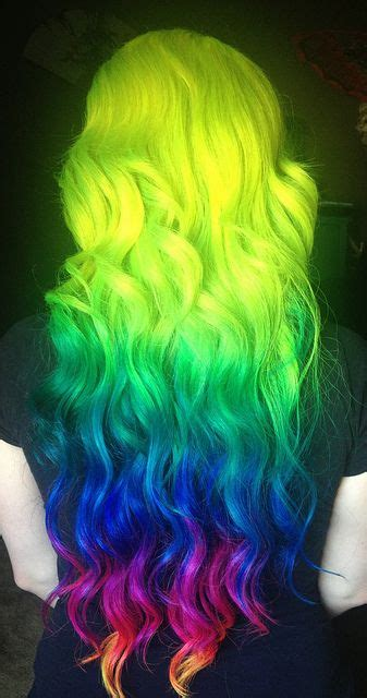 cute neon highlights 2014 hot ombre highlights trend 30 rainbow colored
