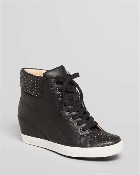 studded sneaker wedges splendid helsinki leather wedge sneaker in black lyst