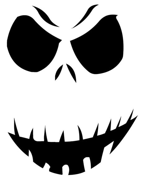 jack skellington pumpkin stencil pattern svg pinterest