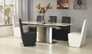 Expandable Dining Room Tables Modern Modern Expandable Dining Table 8596