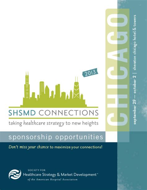sponsorship prospectus template shsmd 2013 conference branding graphic design and branding