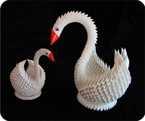 How To Make 3d Origami Swan - 3d origami swan free origamii diy origami