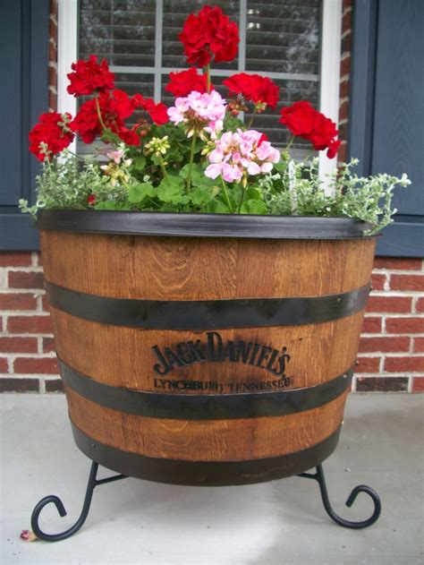 lowes barrel planter our whisky barrel planter gardening planters whisky and o