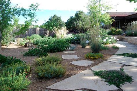 santa fe permaculture xeric garden asian landscape
