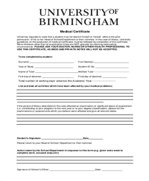 2017 medical certificate form fillable printable pdf forms