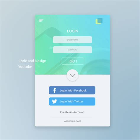 html design of login page ui design tutorial in photoshop mobile app login page