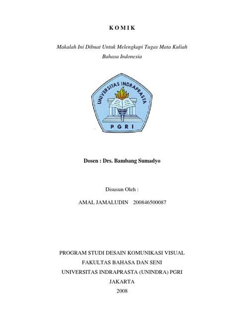 biography soekarno bahasa indonesia makalah bahasa indonesia komik