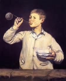 le junge boy blowing bubbles edouard manet biblioklept