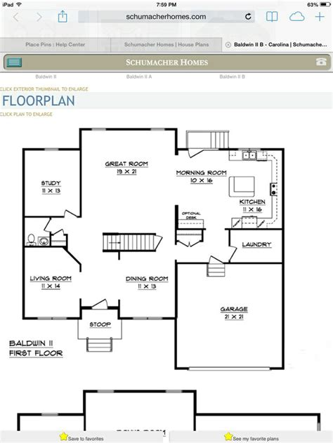 floor plan com floor plan schumacher homes pinterest