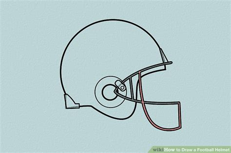 How To Make A Paper Football Helmet Step By Step - 4 ways to draw a football helmet wikihow