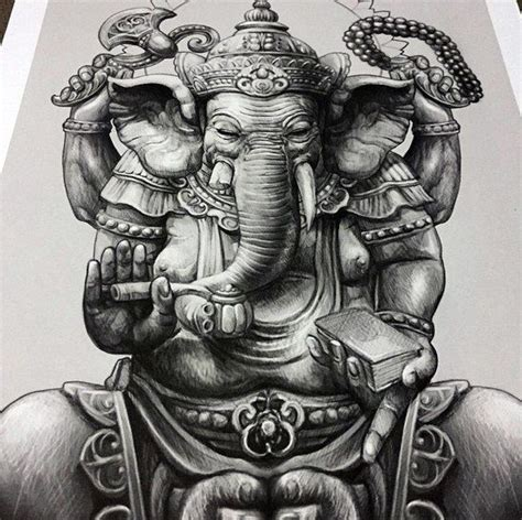 ganesha tattoo realistic 83 best ganesha images on pinterest