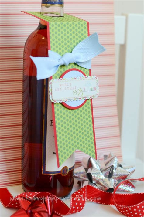 Kerrys Paper Crafts - wine bottle tag tutorial kerry s paper crafts