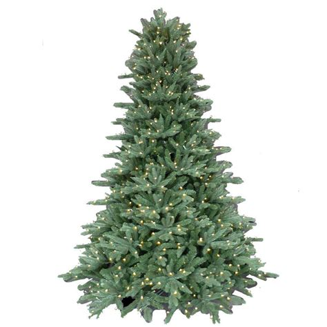 pre lit trees with led lights 7 5 ft pre lit led foxtail fir artificial