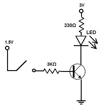 transistor led driver schematic audio driving an led circuit