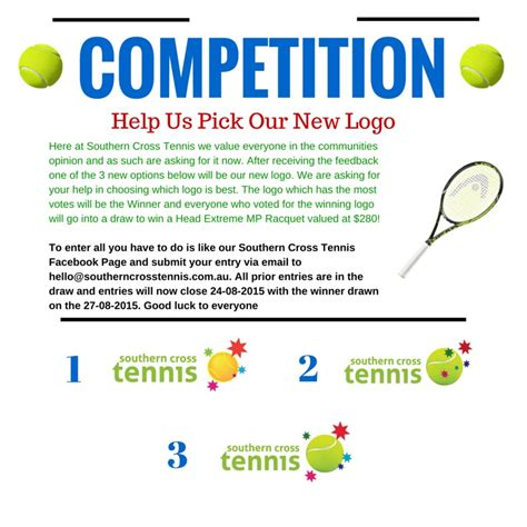 Our Recent Blockbuster Picks by Help Us Our New Logo Southern Cross Tennis