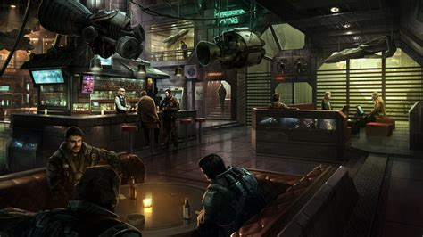 Animal Wall Murals space spaceship star citizen bar digital art arccorp