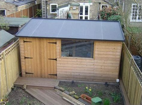 flat roof shed ideas  pinterest wood shed