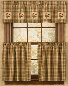 rooster kitchen curtains valances rooster lined applique curtain valance