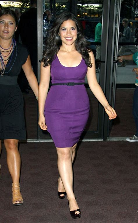 Just How Curvy Is America Ferrara by America Ferrera Purple Vs Curvy