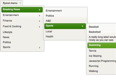 html design drop down menu dropdown vs flyout vs dropline vs mega vs accordion menus