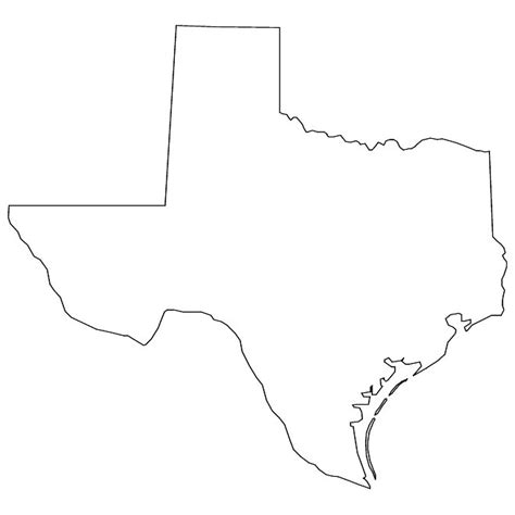 texas map shape texas state shape clip 26